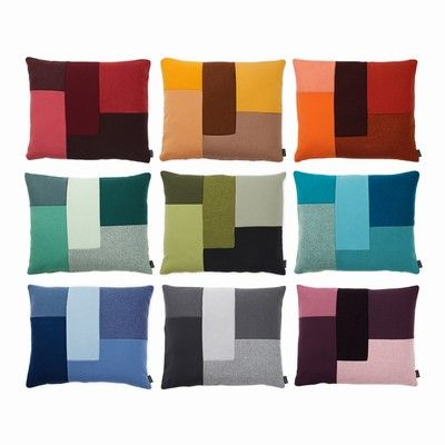 Colourblocs patchwork pillows