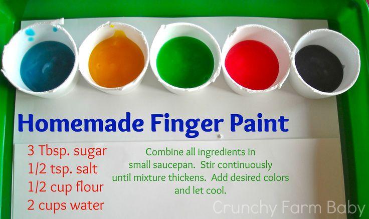 Crunchy Farm Baby: Homemade Edible Finger Paint