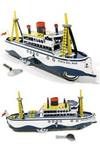 Akdeniz Gemi Maria Del Mar Mavi: Üreme Paya Tin Toy
