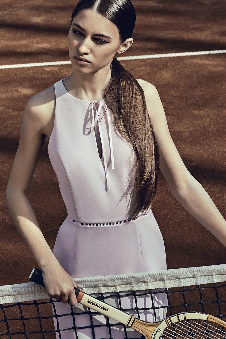 Harper Dress #palepink #pencildress #tenniscourt