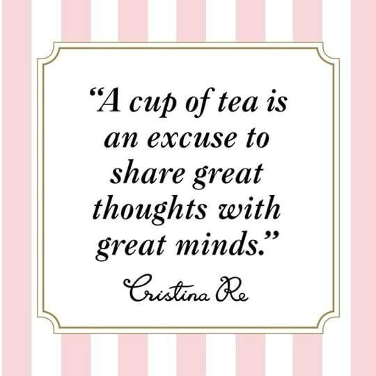 A cup of tea is...