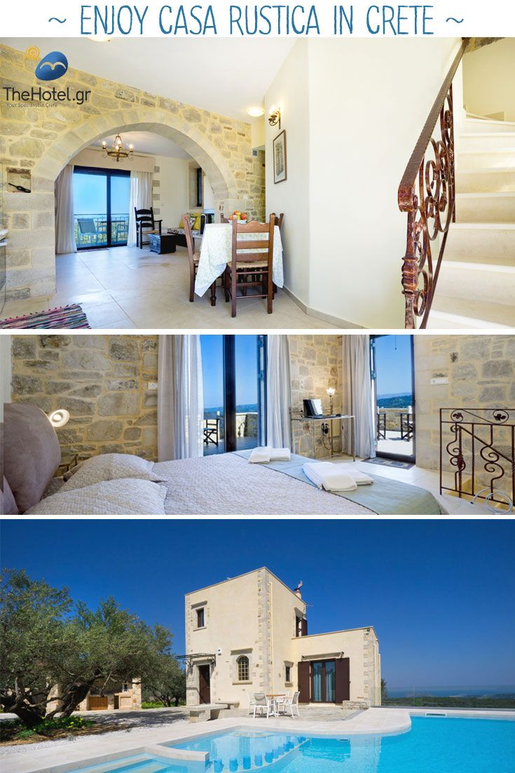 Say hello to Casa Rustica, our villa in Maleme, Chania, Crete. It's a stonebuilt , elegant villa with a lovely private pool. For more traditional style villas in Crete, visit our site TheHotel.gr