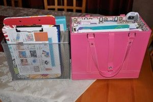How to create a portable home office. www.jenniferfordberry.com
