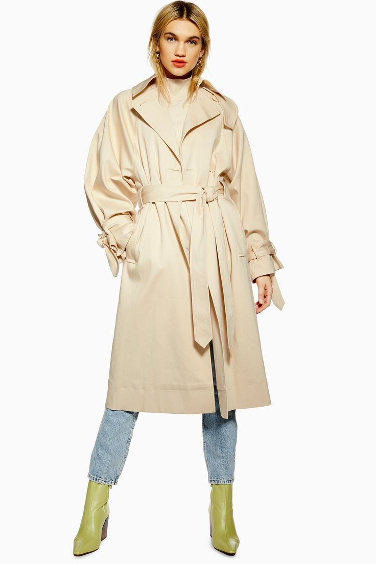 Sheer nude tulle trench - OMRA