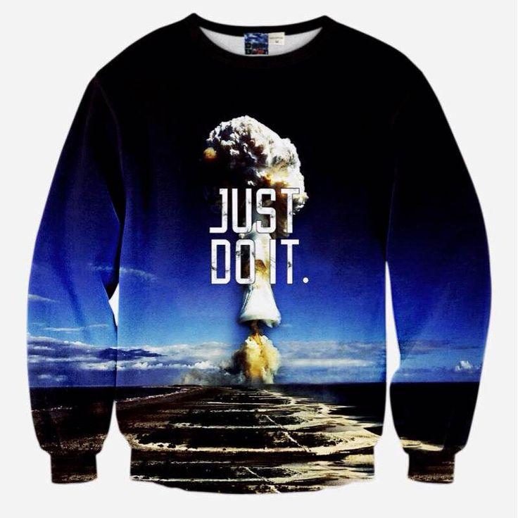 moletom masculino 2016 men's 3d hoodies just do it printed sweatshirt for men hip hop tracksuit streetwear sudaderas hombre