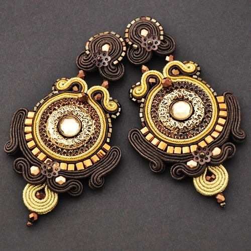 sutasz artspirale # soutache # earrings
