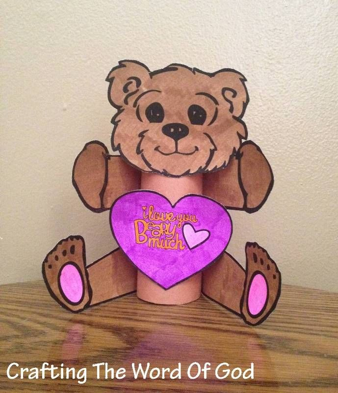Instructions Print the template on cardstock. (Template) Color and cut out all of the pieces. Cover a roll of toilet paper or towels with brown construction paper. Glue the legs to the toilet paper...