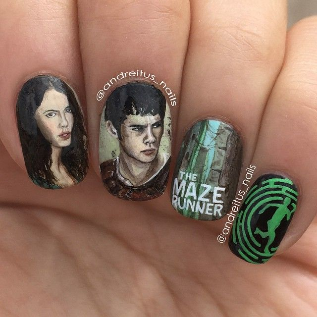 The Maze Runner andreitus_nails #nail #nails #nailart