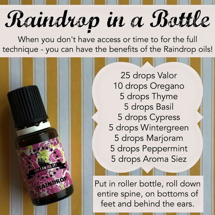 Young living oils. Quick Raindrop technique