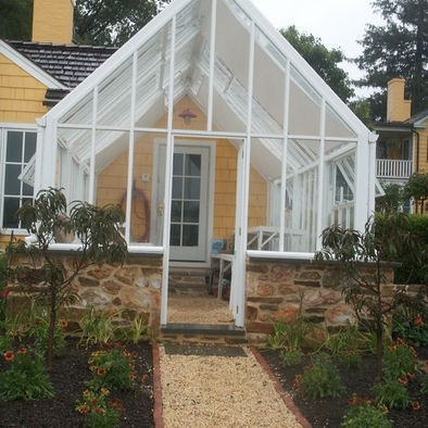 Attached greenhouse design pinterest english for Victorian conservatory plans
