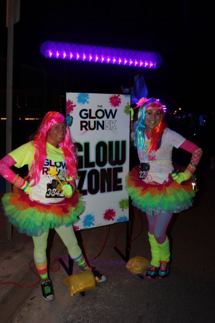 Having fun at St. Louis Glow Run 5k
