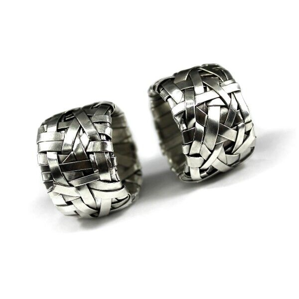 woven series rings ~ uniquely crafted to order in sterling silver by gurgel-segrillo #LoveWins