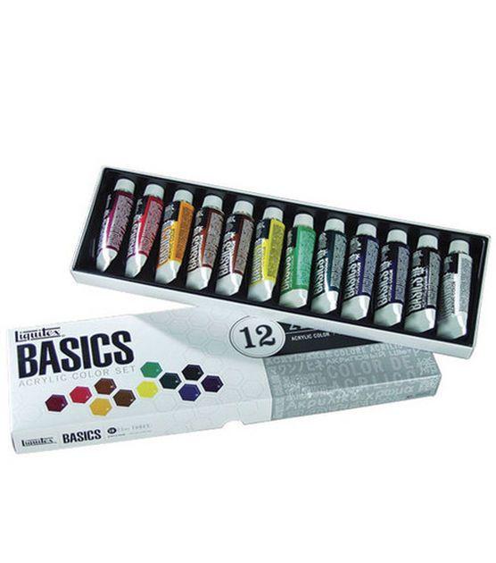Liquitex Basics Acrylic Paint Tubes-12 Colors
