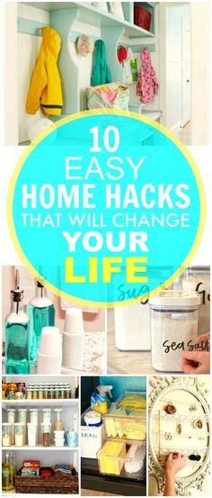 You HAVE TO check out these 10 Easy Home Hacks That Will Change Your Life! They're THE BEST! I've already tried a few and my house looks SO GOOD! I'm so GLAD I found these hacks that will save me money and time!
