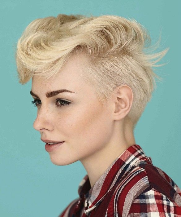 Androgynous 60s Inspired White Blonde Pixie