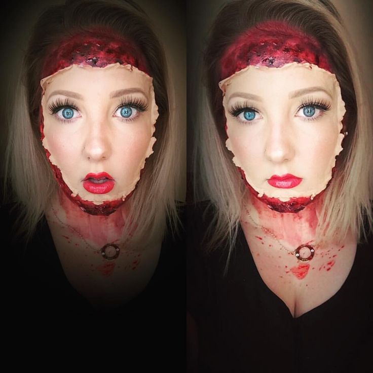 """47 Likes, 4 Comments - Amanda (@amanda_lee_makeup) on Instagram: """"My entry for @glamdollsquad sfx/illusion theme! If you like it please pop over and give me a like…"""""""