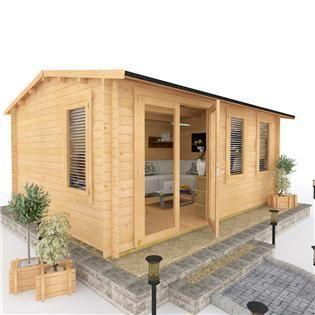 BillyOh Devon Log Cabin - Log Cabin Summerhouses - Garden Buildings Direct