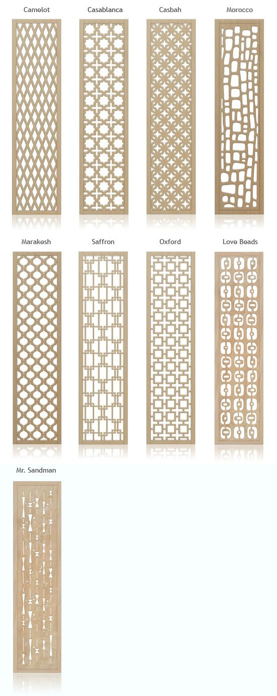Crestview Doors - Redi-Screens - Mid-century Inspired Decorative Wall Screens and Room Dividers can be made into art too!