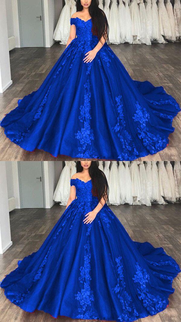 3716b980ccc62c ... Ball Gowns Quinceanera Dresses Lace Appliques. royal blue wedding  dresses