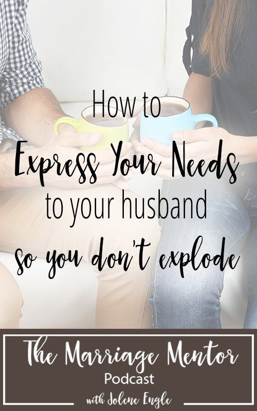 As a wife, learning to express my needs to my husband hasn't always been easy.  I would either stuff my feelings or explode.  Unfortunately, neither response would bring me to the desired result I was seeking from my guy. Over the years, I had to figure out a God-honoring way to express what was going [...]