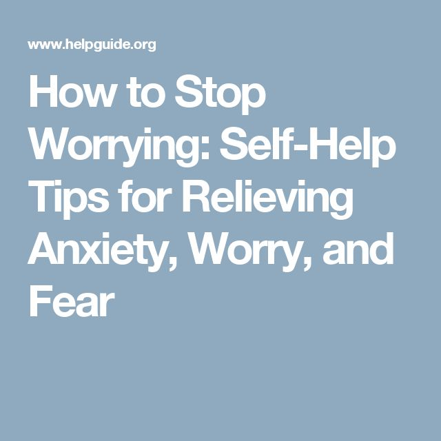 how to self help anxiety