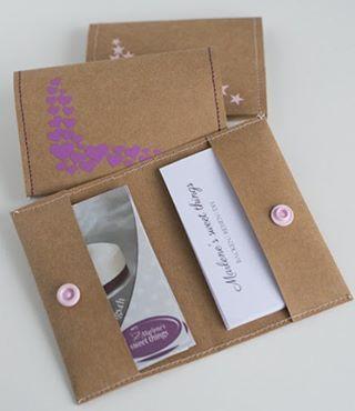 Heute am Kreativmittwoch gibt es eine ein Anleitung für #Visitenkarten Etuis mit…