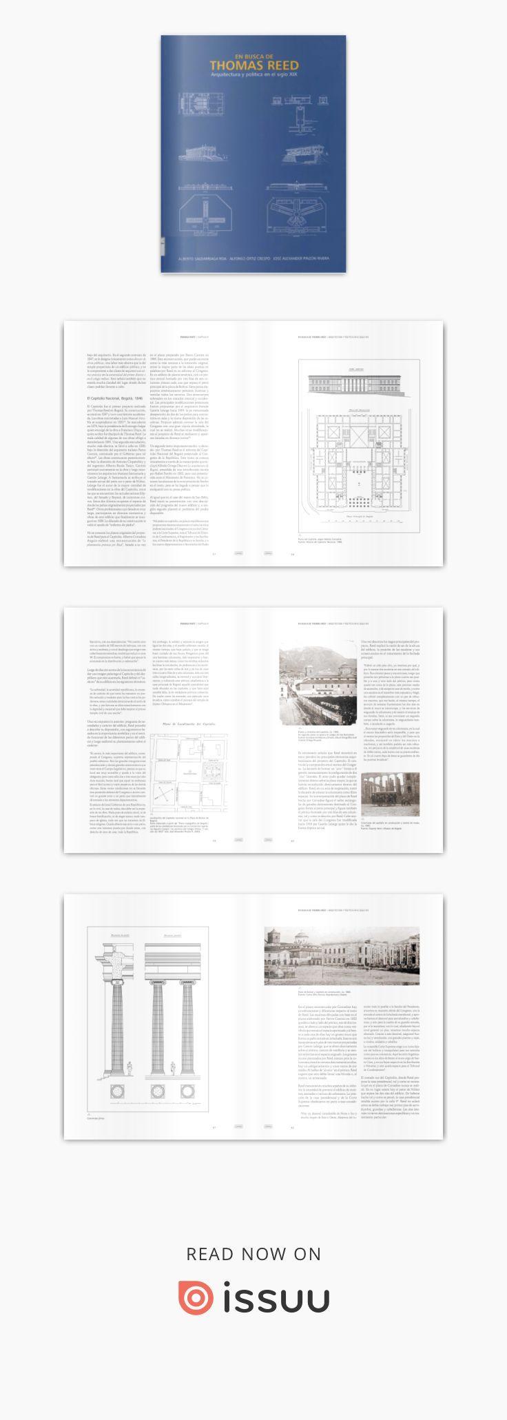 En busca de Thomas Reed. Arquitectura y Política en el siglo by Instituto Distrital Patrimonio Cultural - issuu