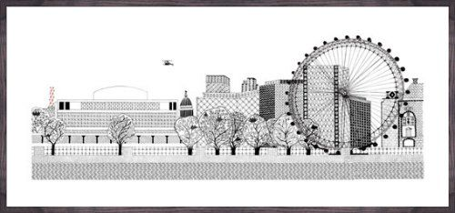 Southbank by Charlene Mullen - art print from King