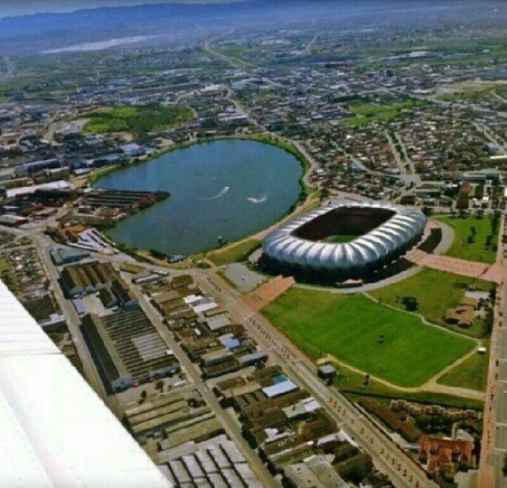 North End Lake and Nelson Mandela Stadium.