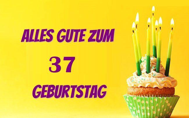 Geburtstagskarten 37 Geburtstag