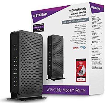 NetGear N600 WiFi Cable Modem Router - C3700