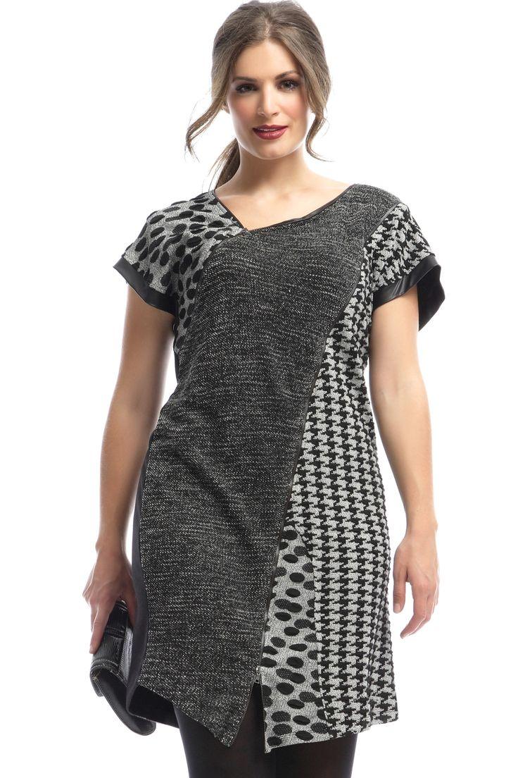 Jurk Mat versch printen rits detail::jurken::Grote maten - mode online | Gratis verzendig | Bagoes fashion
