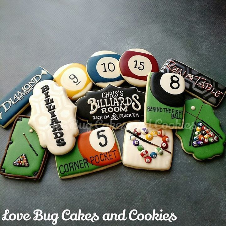 Pool billiards cookies