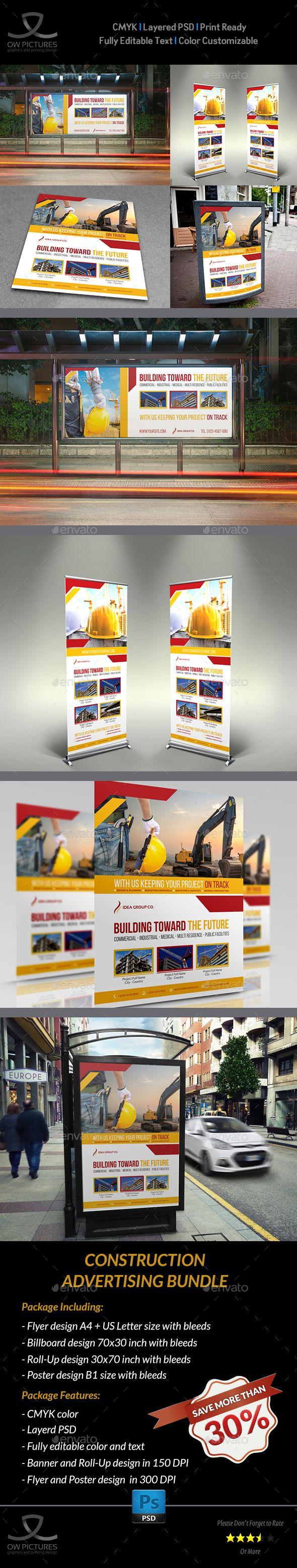 Poster design description - Construction Advertising Bundle Vol 5