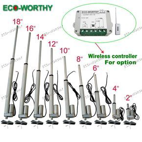 12V Linear actuator 330 pounds/150kg max lift electric motor bracket optional #ECOWORTHY