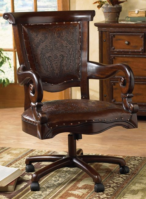 Tooled Leather Western Desk Chair This Has To Be The