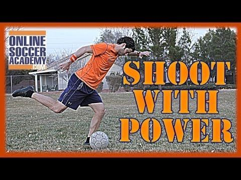 How to Kick a Soccer Ball: Shoot a Soccer Ball with Power - Online Soccer Academy - YouTube