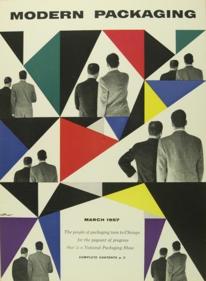Walter Allner - Modern Packaging Cover 1955