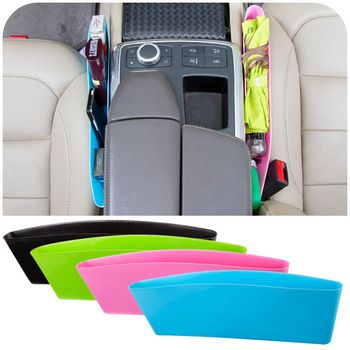2 pçs/lote saco de armazenamento de carro Seat bolso captura Caddy Catcher organizador espaço salvar loja de carro assento PP estiva Tidying