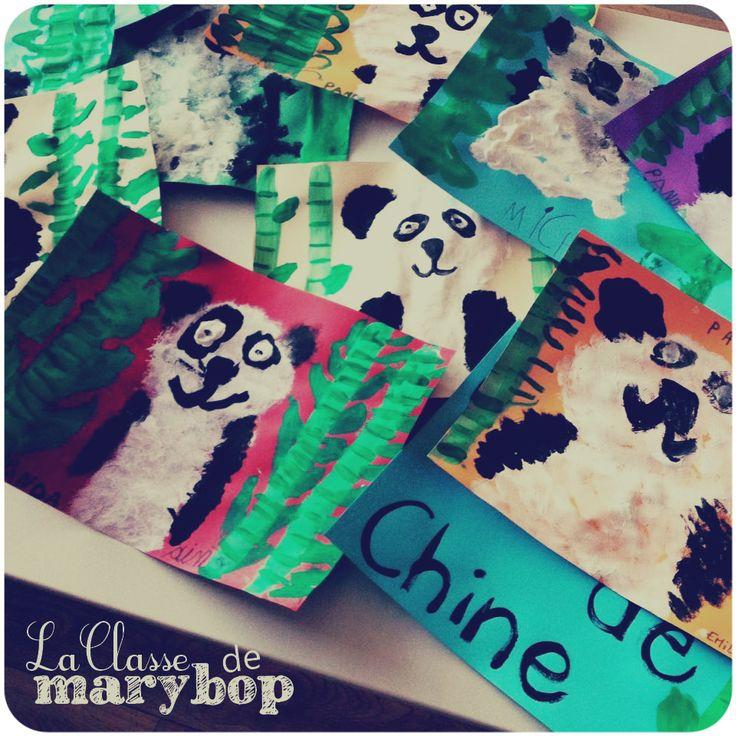 Panda chine maternelle la classe de marybop chine et panda pinterest pandas - Coloriage panda maternelle ...