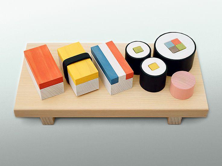 Японские дизайнеры придумали обучающие суши - деревянный конструктор для детей