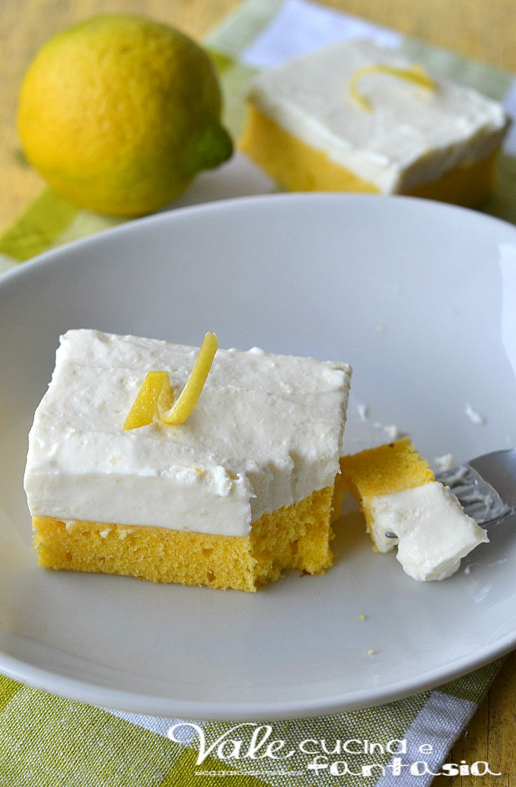 Cheesecake brownies al limone ricetta dolce