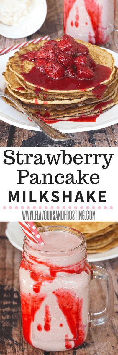 Strawberry Pancake Milkshake recipe | FlavoursandFrosti...