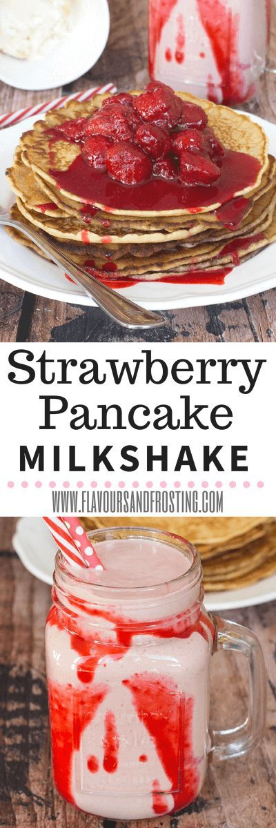 Strawberry Pancake Milkshake recipe | FlavoursandFrosti...