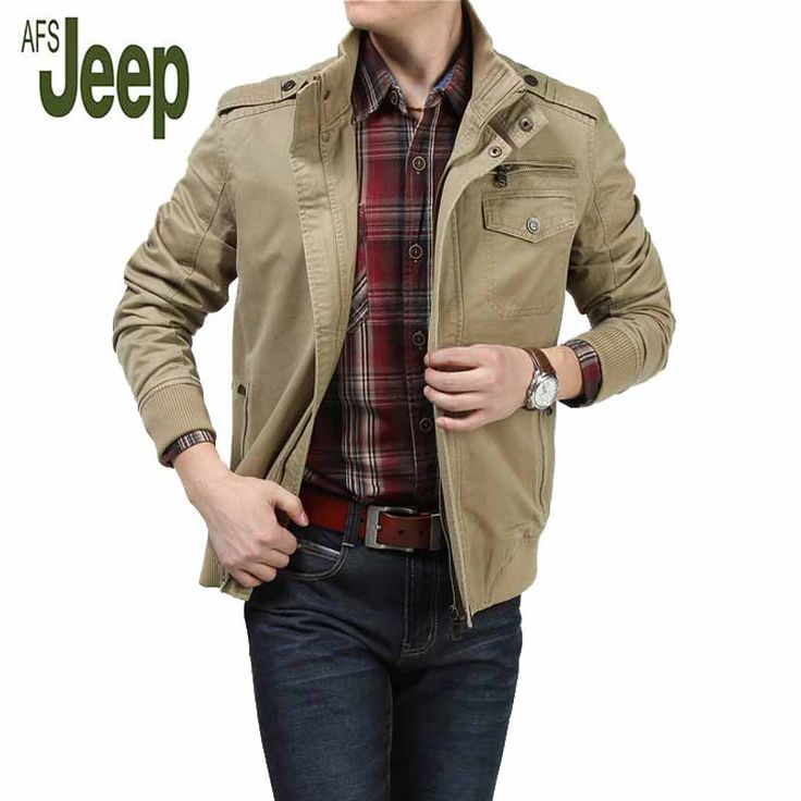 Afs Jeep Jacket Men's Autumn New Short Paragraph Casual Long-Sleeved Large Size Jacket Fashion Men's Comfortable Top 128 #Affiliate