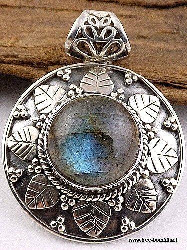 BIJOU ARGENT LABRADORITE, bijoux labradorite bleue, pendentif labradorite bleue,   bijoux en pierre naturelle DA67.11