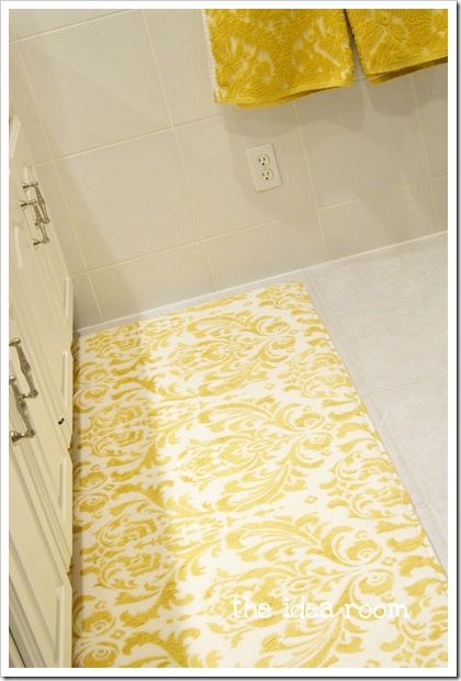 Best 25 stencil rug ideas on pinterest inexpensive rugs paint rug and laundry room rugs - Yellow kitchen floor mats ...