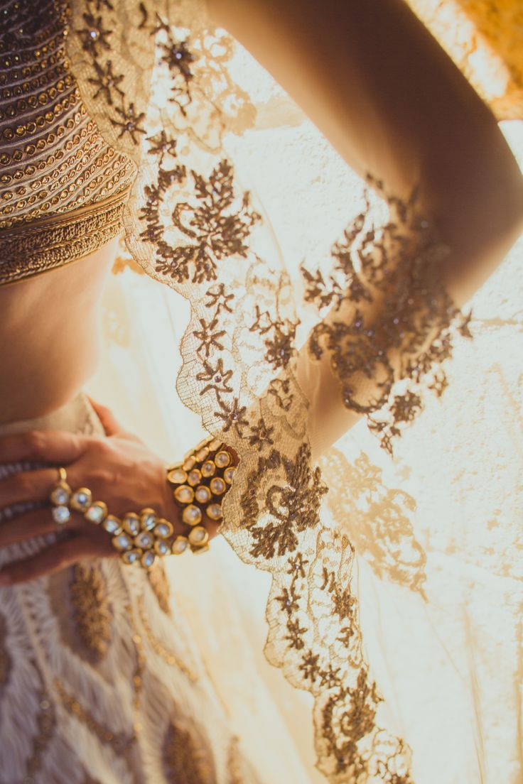 scalloped lace edges - California Vintage Indian Wedding IQPhoto Studio