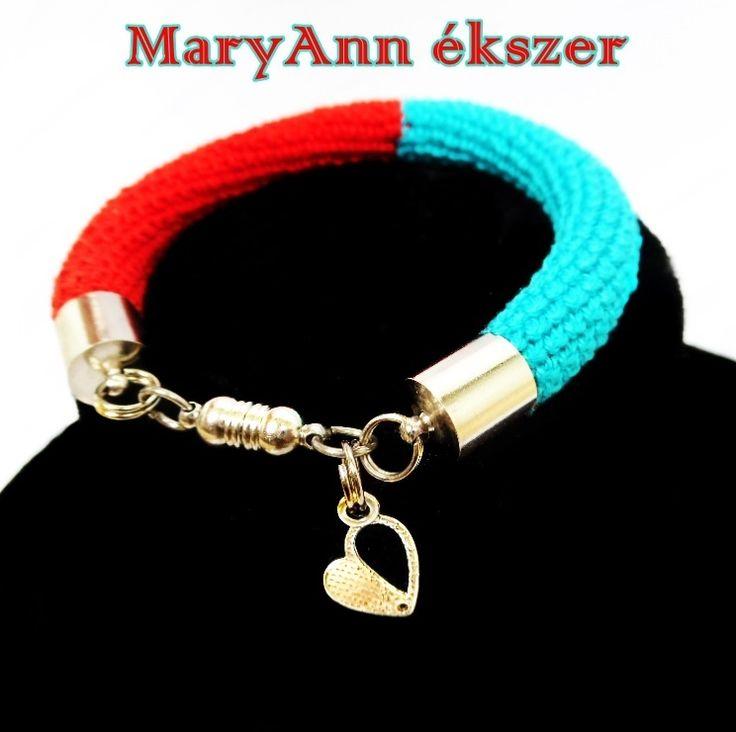 Piros-kék karkötő https://www.facebook.com/maryannekszer/ #karkötő #piros #kék #ékszer #love