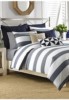 Nautica Lawndale Navy Bedding Collection - Online Only